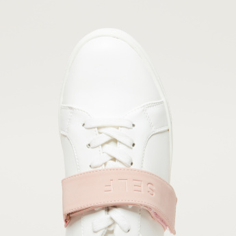Lace-Up Sneakers with Hook and Loop Closure