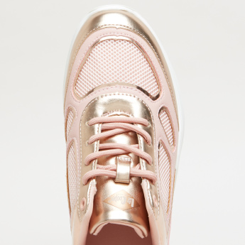 Lee Cooper Textured Walking Shoes with Metallic Detail
