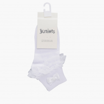 Juniors Lace Detail Ankle Length Socks