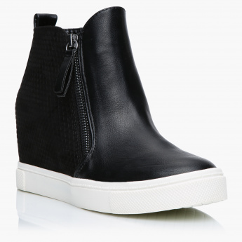 Missy High Top Shoes with Zip Closure