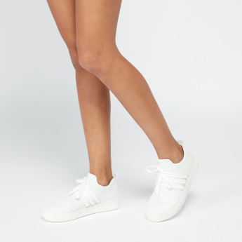Lee Cooper Mesh Lace-Up Sneakers