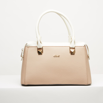 Celeste Textured Handbag with Zip Closure