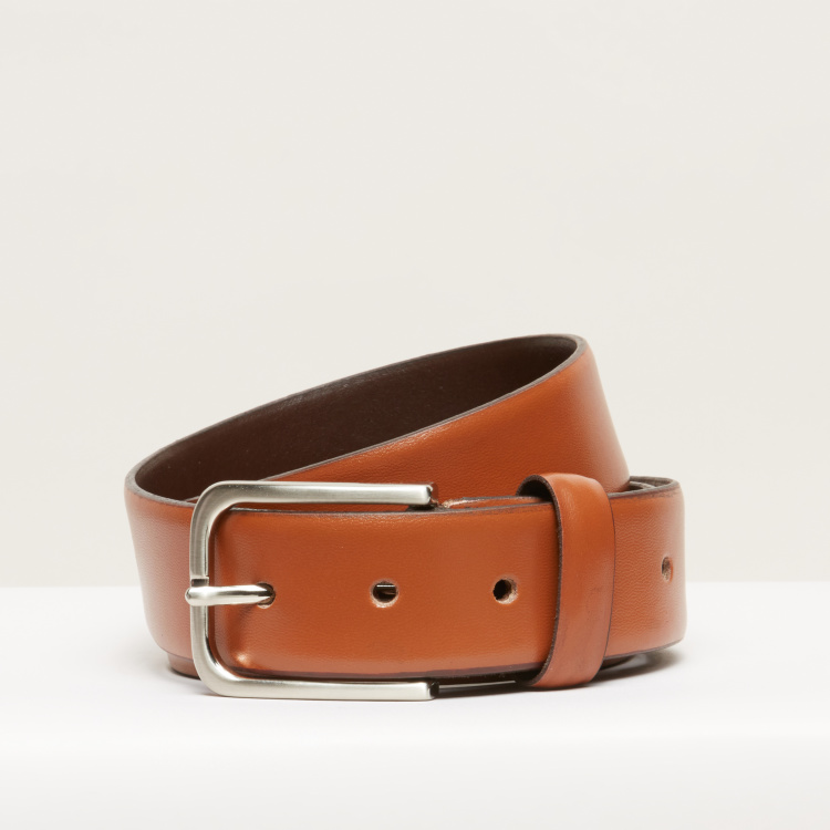 Duchini Textured Belt with Pin Buckle Closure