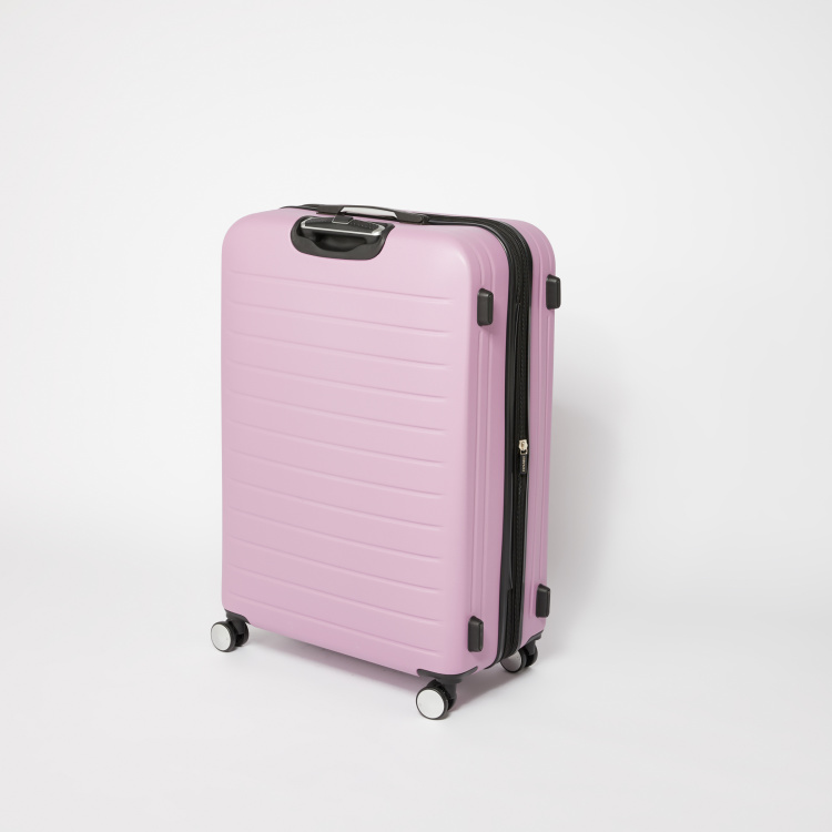 it luggage 360 Spinner Textured Hard Case Trolley Bag with Zip Closure