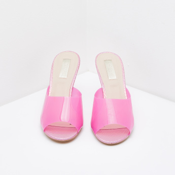 Heeled Peep-Toe Sandals