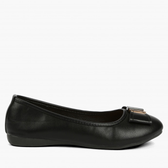 Paprika Slip-On Shoes with Bow Detail
