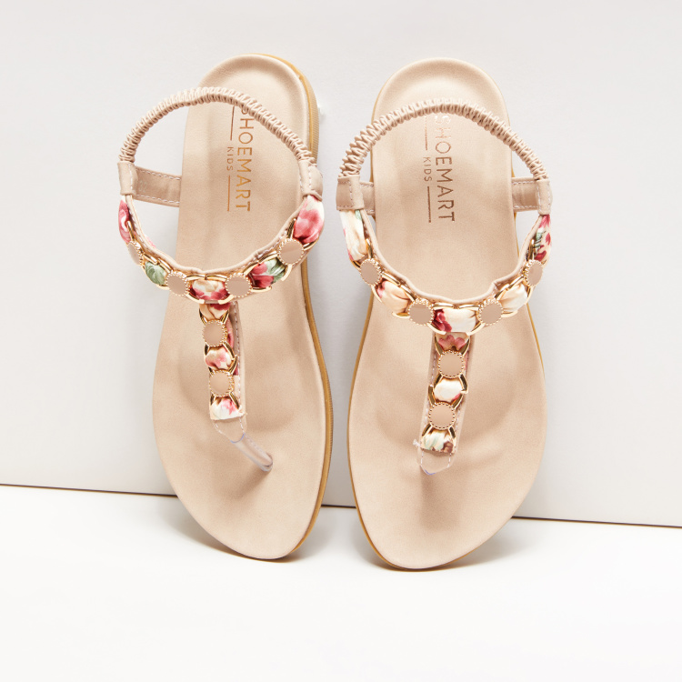 Embellished Sling Back Sandals