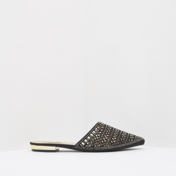 Embellished Mules with Slip-On Closure