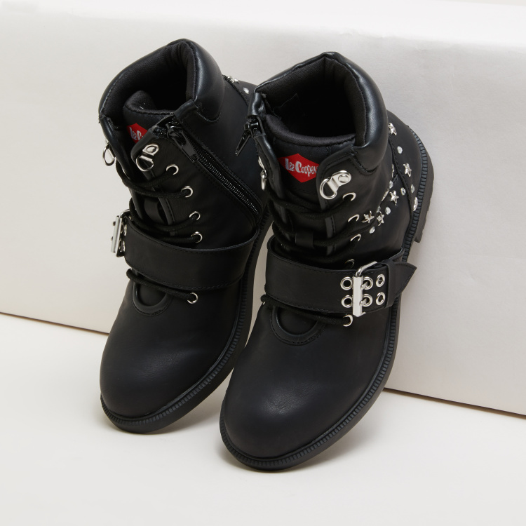 Lee Cooper Stud Detail High Top Boots