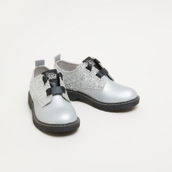 ELLE Lace-Up Derby Shoes with Glitter Detail