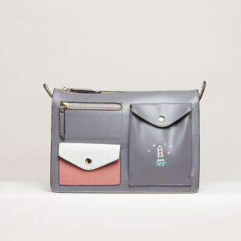 Missy Stitch Detail Crossbody Bag with Zip Closure