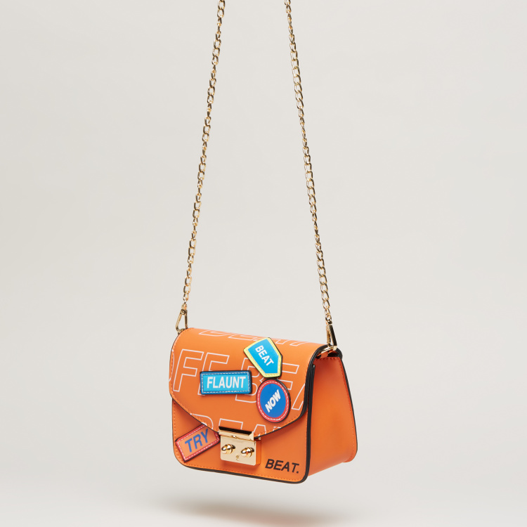 Missy Satchel Bag with Patchwork and Waist Belt Strap
