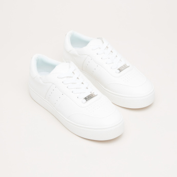 STEVE MADDEN Stitch Detail Lace-Up Sneakers
