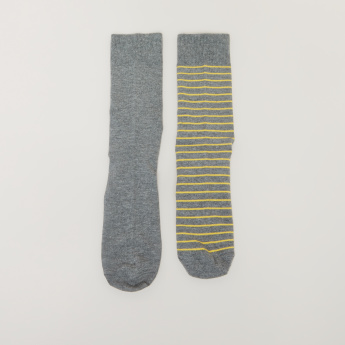 Elle Assorted Crew Length Socks - Set of 2