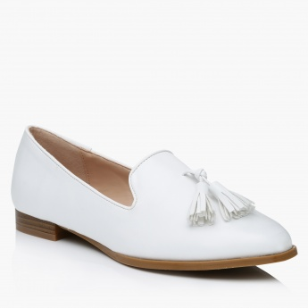 Paprika Slip-On Tassel Shoes