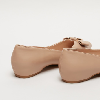 Paprika Bow Detail Ballerina Slip-On Shoes