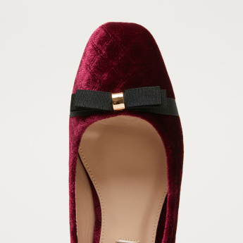 Bow Applique Slip-On Ballerinas