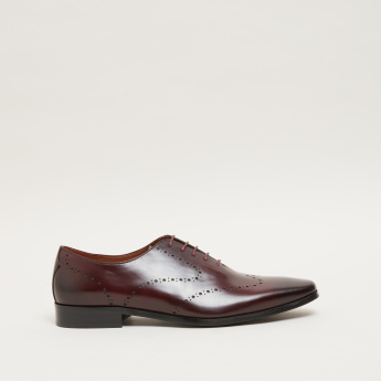 ELLE Perforated Lace-Up Oxford Shoes