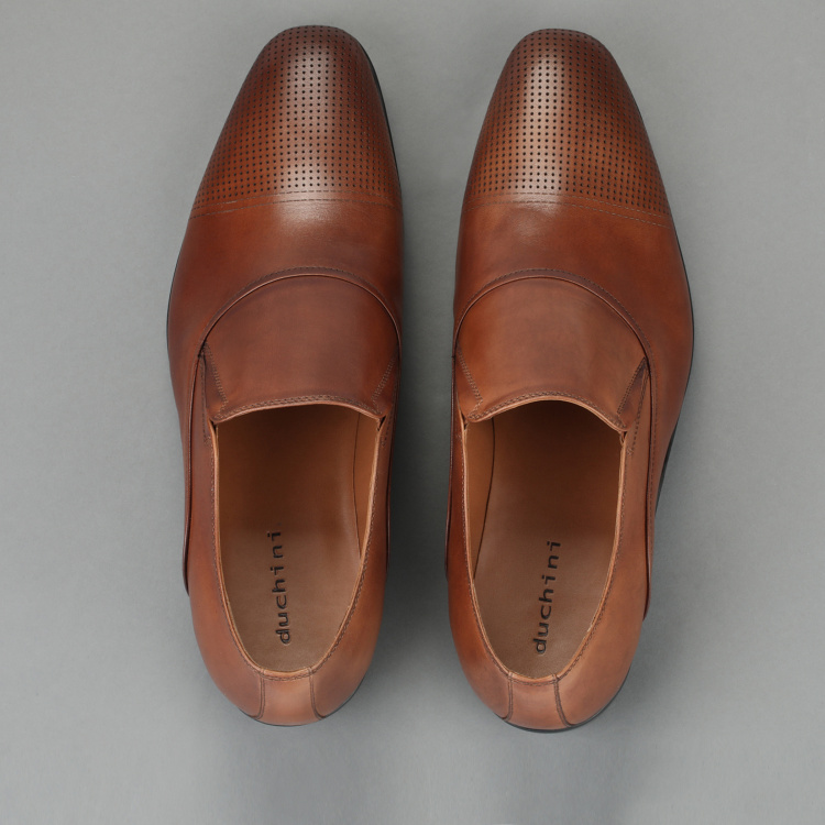 Duchini Slip-On Shoes with Laser Cut Detail
