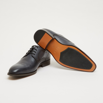 ELLE Lace-Up Derby Shoes with Stitch Detail