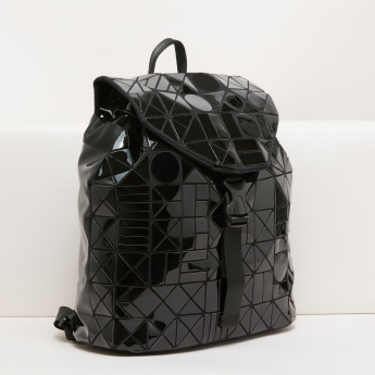 Textured Backpack with Adjustable Backstraps