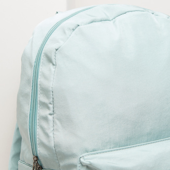 Printed Backpack with Multiple Compartments
