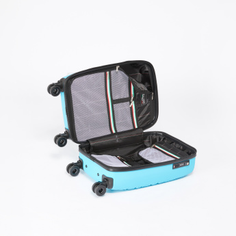 Mia Toro Textured Hard Case Travel Bag