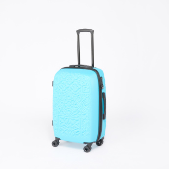 Mia Toro Textured Trolley Bag with Zip Closure
