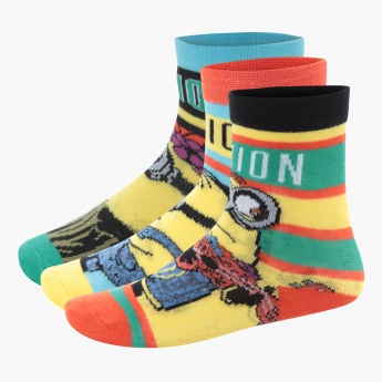 Minions Crew Socks - Set of 3
