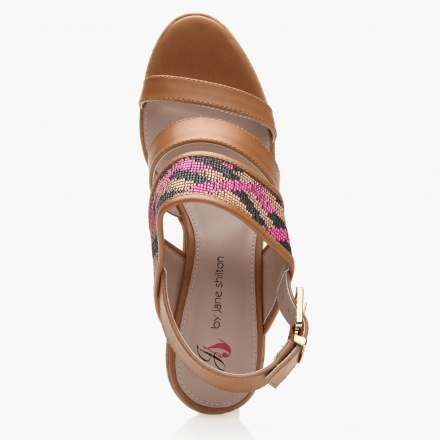 Jane Shilton Embroidered Multi-strap Wedges