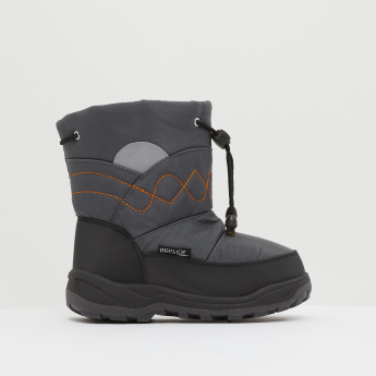 High Cut Boots with Drawstring Closure