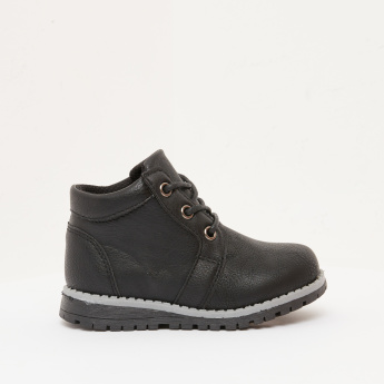 High Cut Boots with Lace-Up Closure