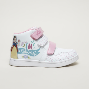 Snow White Printed High Top Shoes
