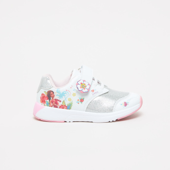 Elena Avalor Printed Sneakers with Hook and Loop Closure