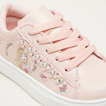 Disney Princess Printed Lace-Up Sneakers