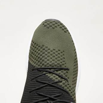Kappa Mesh Detail Lace-Up Running Shoes