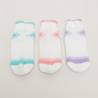 Ankle Length Socks with Print Detail