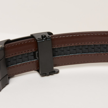 Duchini Formal Belt with Plate Buckle Closure