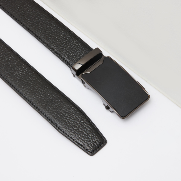 Duchini Textured Belt with Plate Buckle