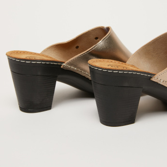 High Heel Slides with Side Stitch Detail