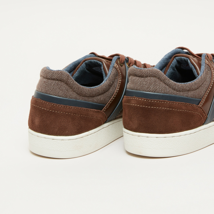 Lee Cooper Lace-Up Sneakers with Stitch Detail