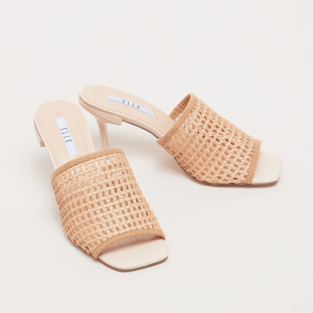 ELLE Slip-On Sandals with Stilettos