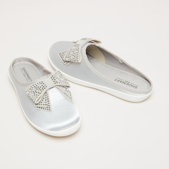 Embellished Bow Detail Slides