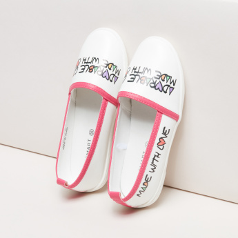 Printed Slip-On Loafers