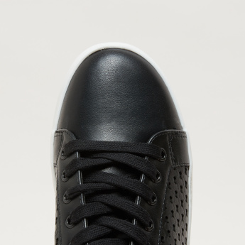 Cutout Detail Sneakers with Lace-Up Detail