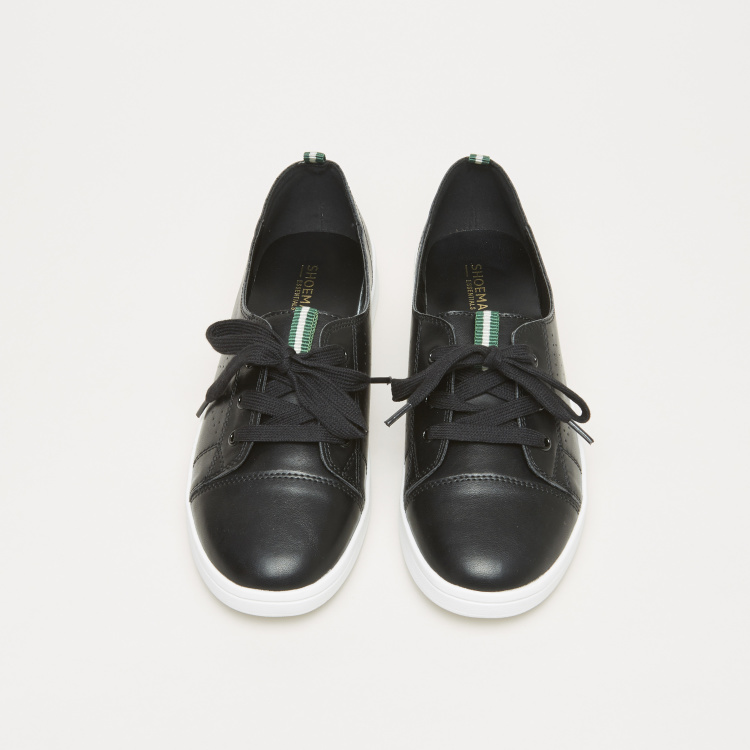 Lace-Up Sneakers with Pull Tab