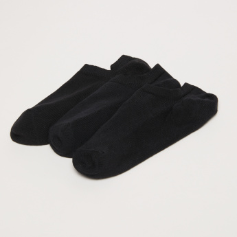 Ribbed No Show Socks - Set of 3