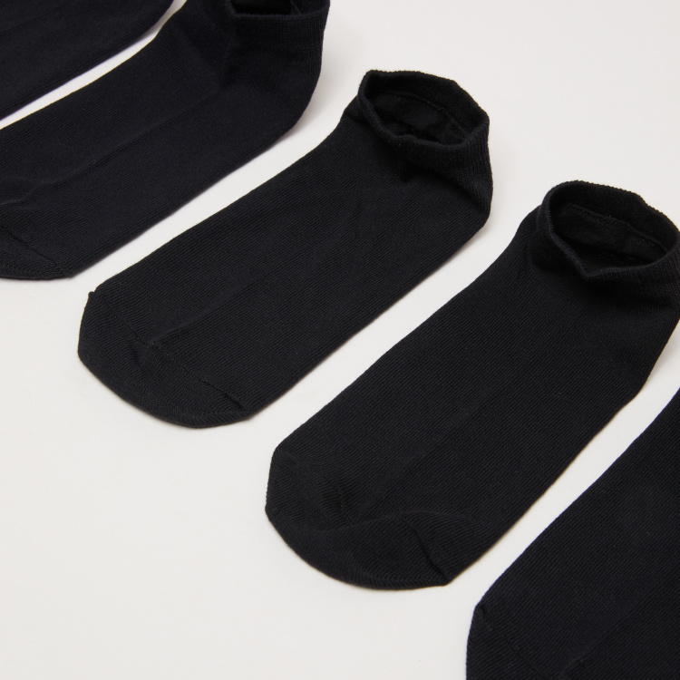 Ribbed Ankle Length Socks - Set of 5
