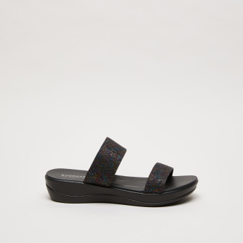 Textured Slides with Dual Straps