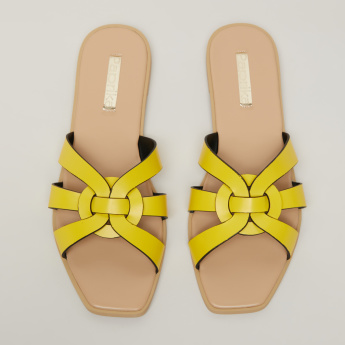 Paprika Cross Strap Slides